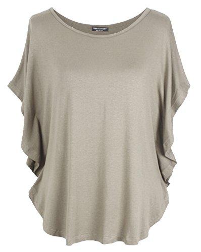 Emma & Giovanni T-Shirt/Oberteile Kurzarm - Damen (Braun-Grau, M/L)