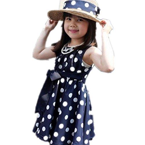 Culater® I bambini Abbigliamento per bambini Pois Ragazze in chiffon Sundress (S, Blu)