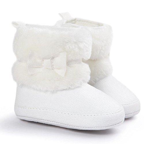 Xinantime , Chaussures premiers pas pour bébé (fille) kaki 0~6M (UK:1.5) blanc