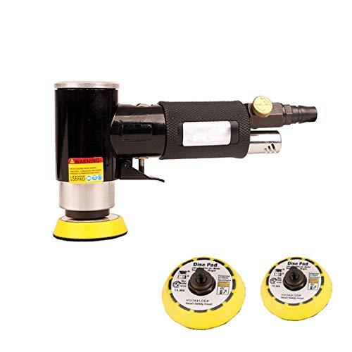 Dyna-Living Poliermaschine Poliermaschine Mini Druckluft Orbitalschleifer Winkelschleifer Polierer Mini Schwarz Leistungsstark