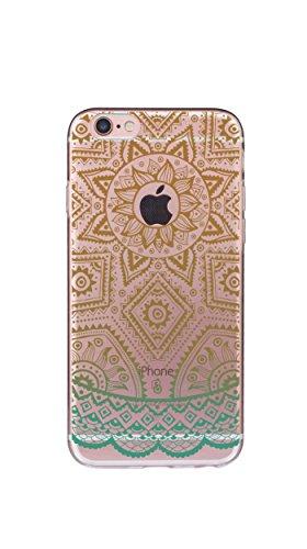 Case Cover Per iphone 6 6S 4.7 pollici Trasparente TPU Gel Silicone Bumper Protettivo Skin Custodia Ultra-sottile Flessibile morbido Protettiva Shell(Dente di leone) fiore