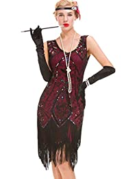 cheaper 73de2 d1d1a vestiti anni 20 - Viola / Vestiti / Donna: Abbigliamento - Amazon.it