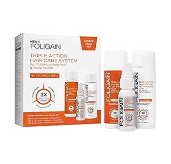 Trioxidil System Para Hombre - Foligain Triple Acción Para La Pérdida Del Cabello - Con 10% de Trioxidil