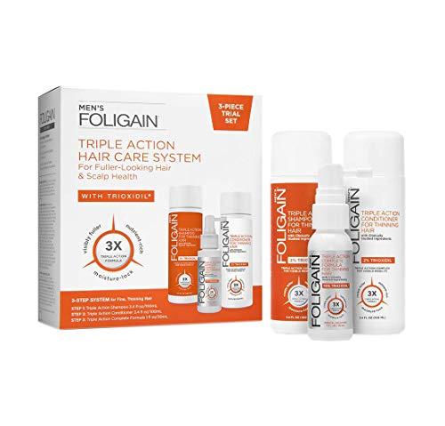 Foligain Kit Anticaduta - Tripla azione al Trioxidil 10% Per Uomo