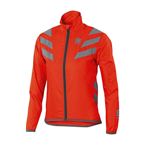 Sportful Reflex Jacket Junior, color naranja,plateado, talla 10 Y