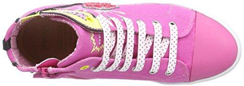 Geox Jr Ciak A, Sneakers Hautes Fille Rose (C8002)