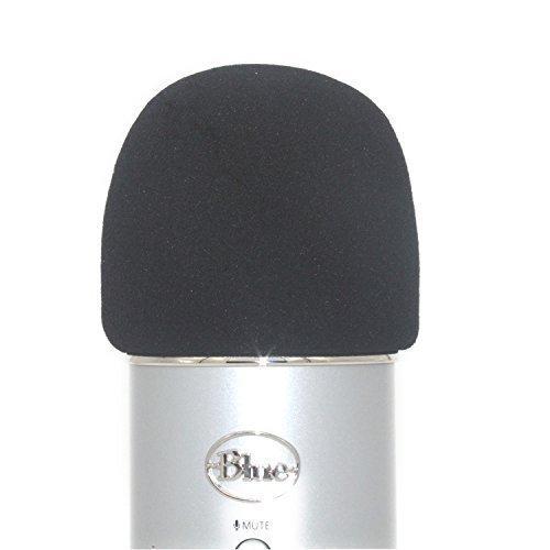 Tramo? Schiuma parabrezza designed to fit the Blue Yeti, Yeti pro microfono a condensatore, MXL, audio Technica, e altri grandi microfoni-2colori, Nero