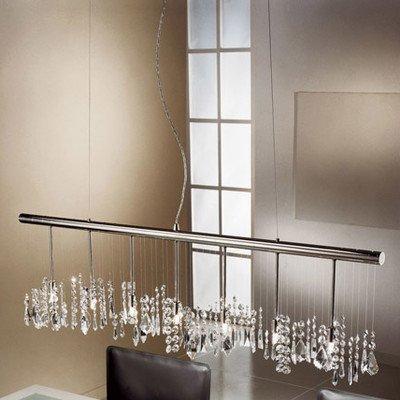 Cristallo lampadario 7luci gocce: trasparente (Swarovski Strass)