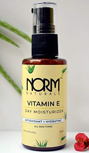 Norm Naturals Vitamin E Face Moisturizer with Aloe Vera & Shea Butter| Dark Spots Removal | 100% Natural | Paraben & SLS Free | All Skin Types, 50 ml