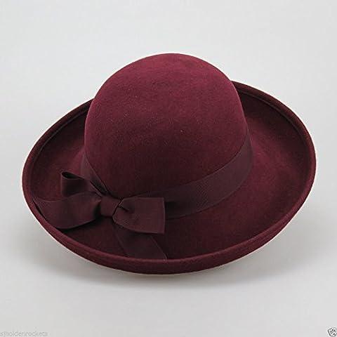 Donna Uomo fino a frontino feltro di lana hat perfetto per l