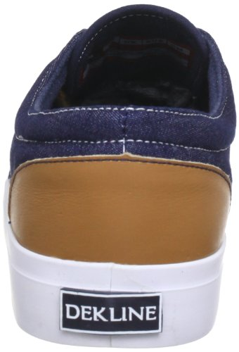 Dekline 602838, Chaussures de skateboard mixte adulte Bleu (Navy-Lightbrown)