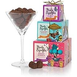 Torre de trufas para mujer - Regalo de chocolate para ella - Tres sabores de trufas de chocolate en un regalo de chocolate