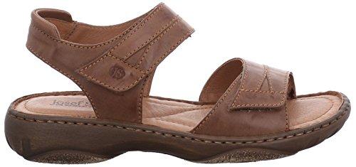 Josef Seibel 7671999513 Sandalo In Pelle Donna Alla Moda Di Debra, Scarpa Estiva, 2 Velcro Fissato Per Una Perfetta Vestibilità Castagne (350)