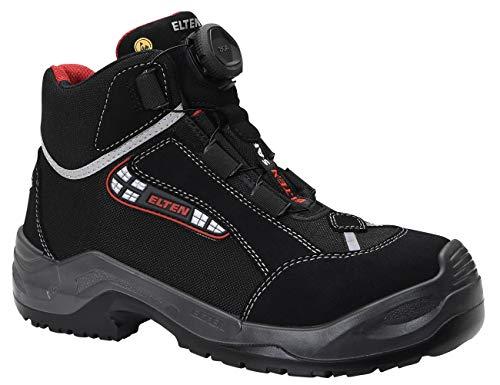 ELTEN Sicherheitsschuhe SANDER BOA ESD S3, Herren, sportlich, leicht, schwarz, Kunststoffkappe, BOA-Schnellverschluss - Größe 45