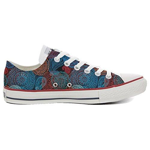 Converse All Star Personnalisé et Imprimés Low Sneaker unisex (produit Italien artisanal) Back Groud Paisley