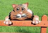 observateur de clôture, Tabouret de clôture, balkonfigur fer, figurine de jardin décoration de la haie chats