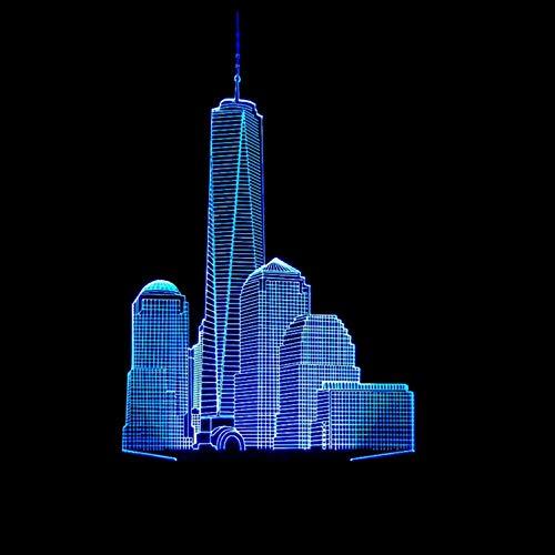 mte Lampe Led Kreative Weihnachtsgeschenk Romatic 3D Nachtlicht Visuelle Party Decor Usb Farbe Tischlampe Schlaf Beleuchtung ()
