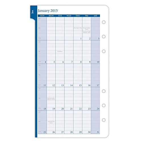 h 2015–2-page-per Wochenplaner Refill Tragbare Größe (13496) (Daytimer Refills 2015)