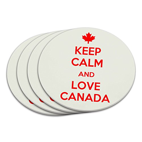 Keep Calm and Love Kanada Maple Leaf Untersetzer Set -