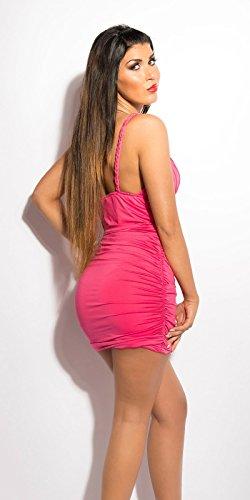 Sexy KouCla Minikleid gerafft mit Steinen Koucla by In-Stylefashion SKU 0000ISF894401 Pink