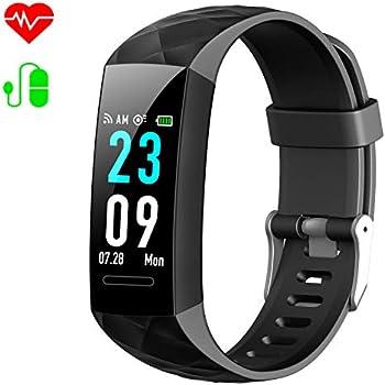 HETP Montre Connectée Femmes Homme Bracelet Connecté Podomètre Cardiofréquencemètre et Tension Artérielle GPS Smartwatch Sport Montre Cardio Calories ...