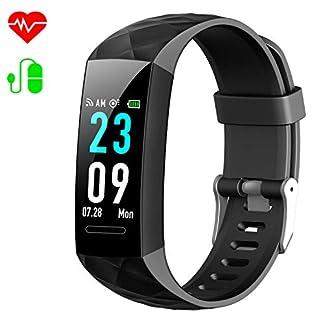 HETP Pulsera de actividad Inteligente Reloj Pulsómetro Hombre Mujer Medidor Presión Arterial reloj de actividad Sueño GPS Impermeable IP67 Reloj Podómetro Cuantas Calorías para Android y IOS móvil