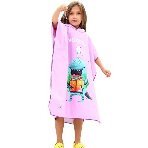 Shujin - Poncho de baño con Capucha para niños