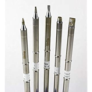 Hakko T15 Series Chisel Tip Pack with T15-D08/D12/D24/D32/D52 Tips by Hakko