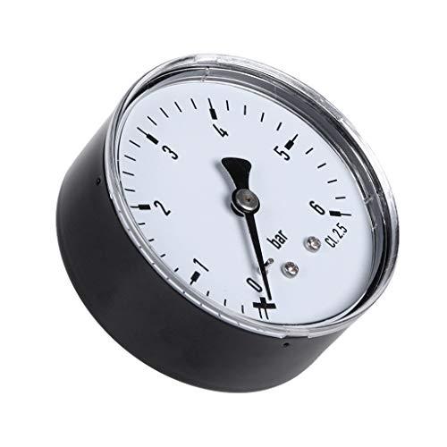 Qiman 0-6 Bar Manometer Wasser Gas Luftdruckverdichter 1/4 '' NPT Back Mount -