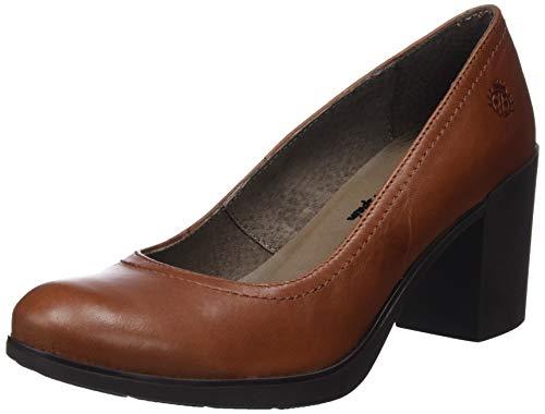 YOKONO Virtu, Zapatos de tacón con Punta Cerrada para Mujer, Marrón Marrón 002, 38 EU