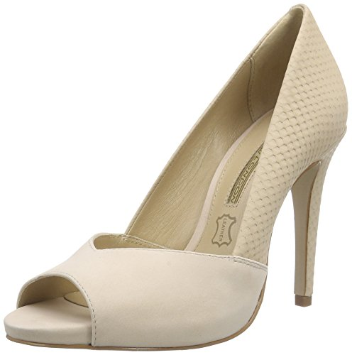 Buffalo London ZS 4031-14 NOBUCK, Damen Peep-Toe Pumps, Beige (NUDE 11), 39 EU