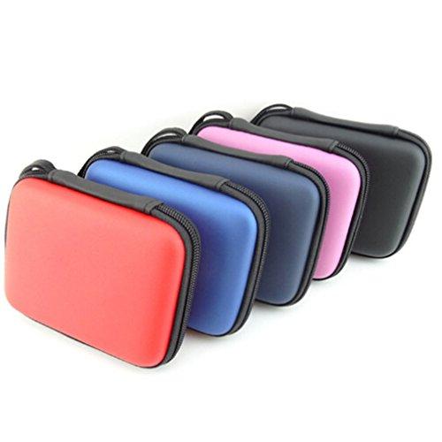 Preisvergleich Produktbild LnLyin 2,5 Zoll Mobile Festplatte Tragbar PU Aufbewahrungsbox Tasche Beutel Box Für Kopfhörer Headset