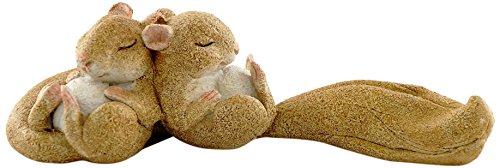 Top Collection Miniatur-Fairy Garden und Terrarium Statue, schlafen Eichhörnchen, 1,25von 10,8cm