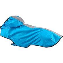 Treat Me Abrigo para Perro Ropa Chaqueta para Perro Grande Ropa para Resistir Lluvia Chubasquero Azul L