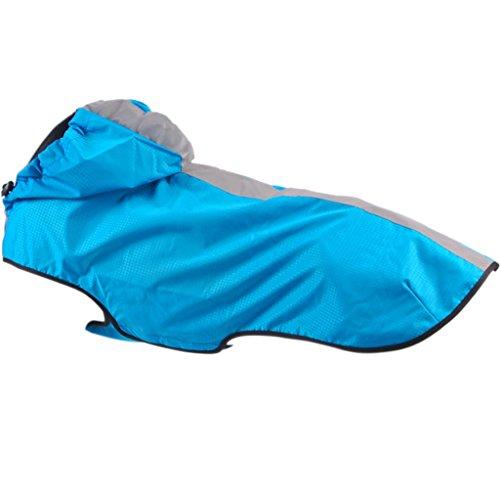 Treat Me Hunderegenmantel mit Kapuze Absolut Wasserdicht Atmungsaktiv Regenjacke Hund Regenmantel Hundejacke für Kleine/Mittlere/ Große Hunde