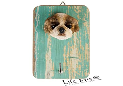 Shih Tzu Single Brown Handmade Rustic Wall