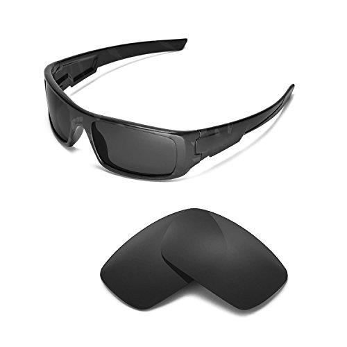 Walleva Ersatzgläser für Oakley Crankshaft Sonnenbrille - Mehrere Optionen (Black - Polarized)