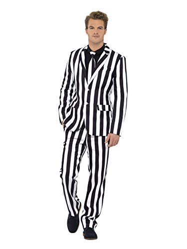 Adult Kostüm Funny Einfach - Smiffys, Herren Gauner Anzug, Jacke, Hose und Krawatte, Größe: M, 43536