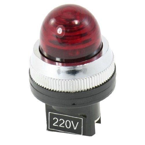AC 220V LED rouge Indicateur De Puissance Pilot Unique Phares / Feux 30mm