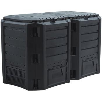 Komposter in schwarz - 800 Liter