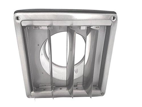 Acero inoxidable protecci/ón contra la intemperie rejilla rectangular con l/áminas m/óviles Tubo Conector DN 100/125/150/200/mm sobrepresi/ón rejilla de ventilaci/ón