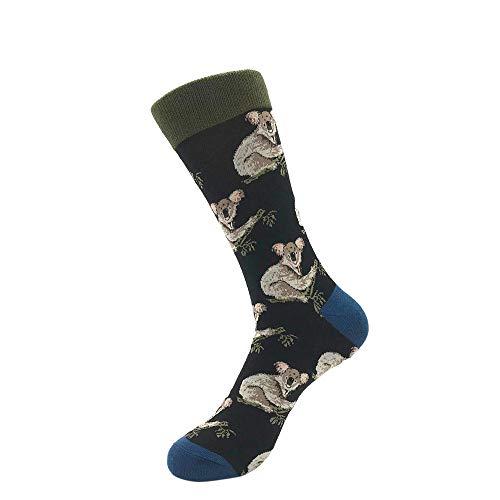 Bayliney 1 Paar Unisex BeiläUfig Baumwolle Socken Mode Herren Frau Taro Banane Raumschiff Muster Atmungsaktiv StrüMpfe Schlafen Sportlich Süß Karikatur Neuheit Komisch Tier Crew MäNner (D) Blue Suede Wedge