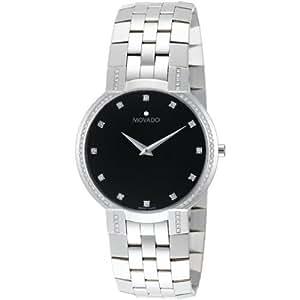 Movado Faceto Mens Watch 0606237 Wrist Watch (Wristwatch)