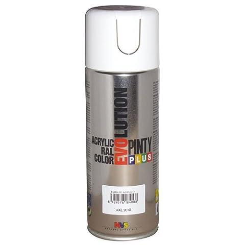 Pinty 590 Bombe 400 ml Blanc RAL 9010 Brillant