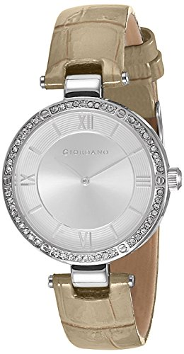 Giordano Analog Silver Dial Women's Watch - A2039-01