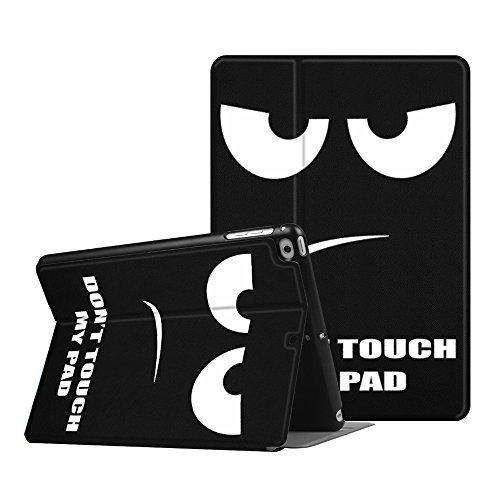 Fintie iPad 201724,6cm/iPad Air 2/iPad Air Fall-[Slim Shell] Leicht verschiedenste Blickwinkel Folio Ständer, mit automatischer Sleep/Wake ZA-Dont Touch 9.7 inch (Fintie Apple Ipad Folio Fall)