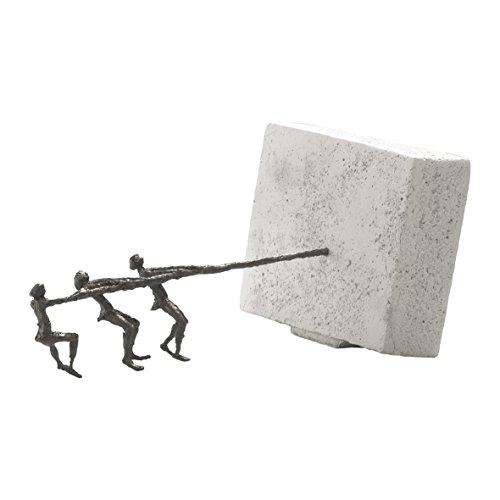 An einem Strang ziehen – Kött-Gärtner Luise – Bronze Skulptur