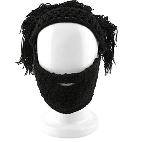 Caveman Maske - WSJDE Crochet Gestrickte Mad Scientist Caveman