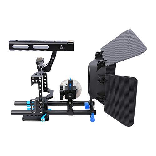 H HILABEE Film Film Video Making System Kit Für Sony A7 A7r A7s Serie DSLR Kameras 15mm Rod Rig Mit Griff Matte Box Und Folgen Fokus (# 1) -