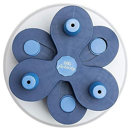Flower Tower Hundeaktivität, Strategiespiel, Level 3, Leckerli-Dosierung, weiß mit blau